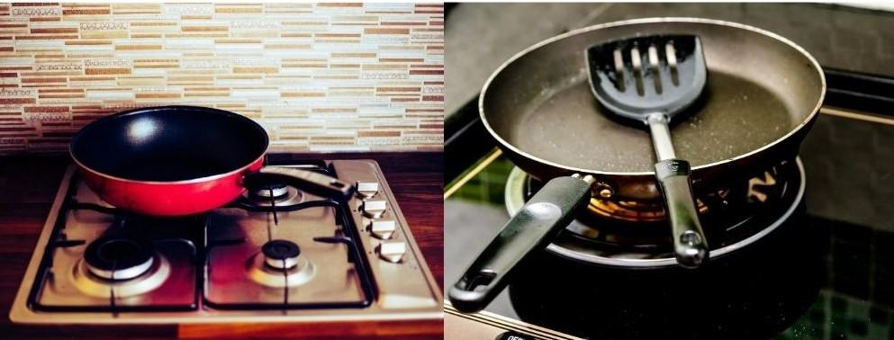 how to use the grill pan on the gas stove