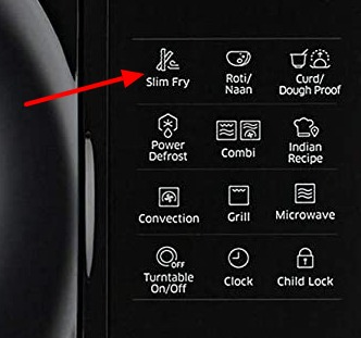 slim fry button option