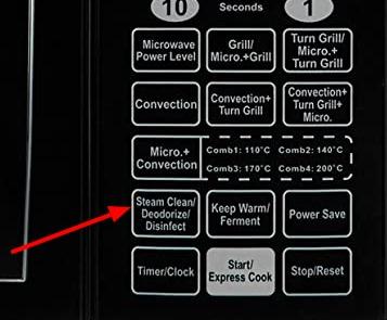 the steam clean button