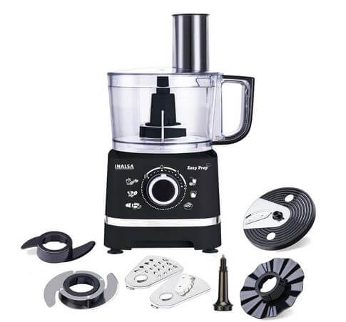 Inalsa Food Processor Easy Prep-800W with Processing Bowl & 7 Accessories best food processor